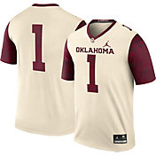 Jordan Men's Oklahoma Sooners #1 Cream Legend Football Jersey