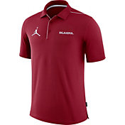 Jordan Men's Oklahoma Sooners Crimson Team Issue Football Sideline Polo