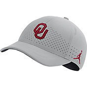 Jordan Men's Oklahoma Sooners Grey Legacy91 Adjustable Hat