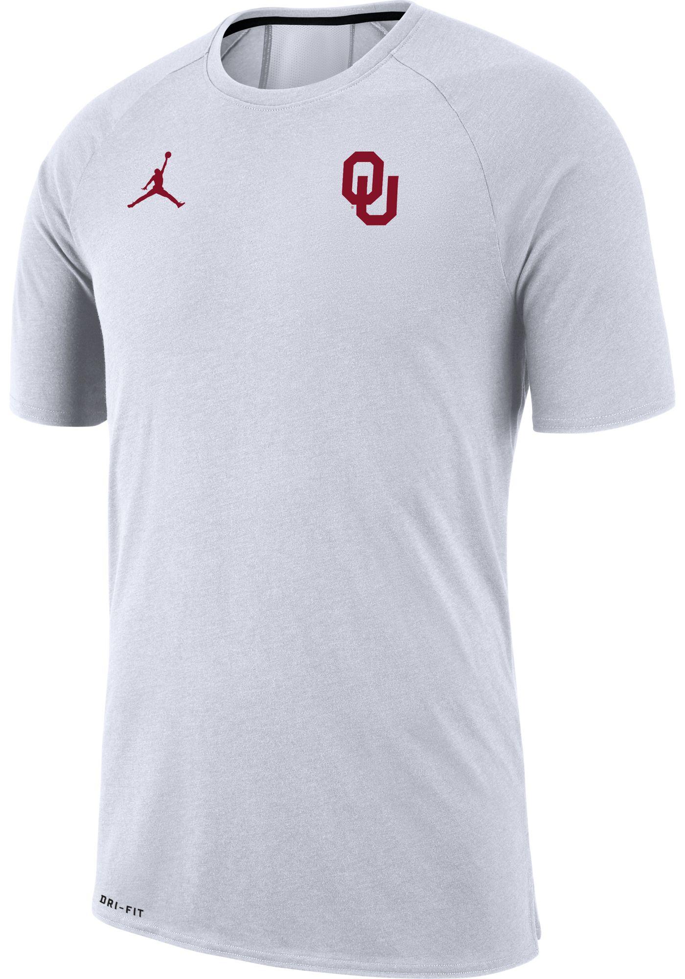 Jordan Men's Oklahoma Sooners Dri-FIT 23 Alpha White T-Shirt