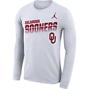 Jordan Men's Oklahoma Sooners Legend Football Sideline Long Sleeve White T-Shirt