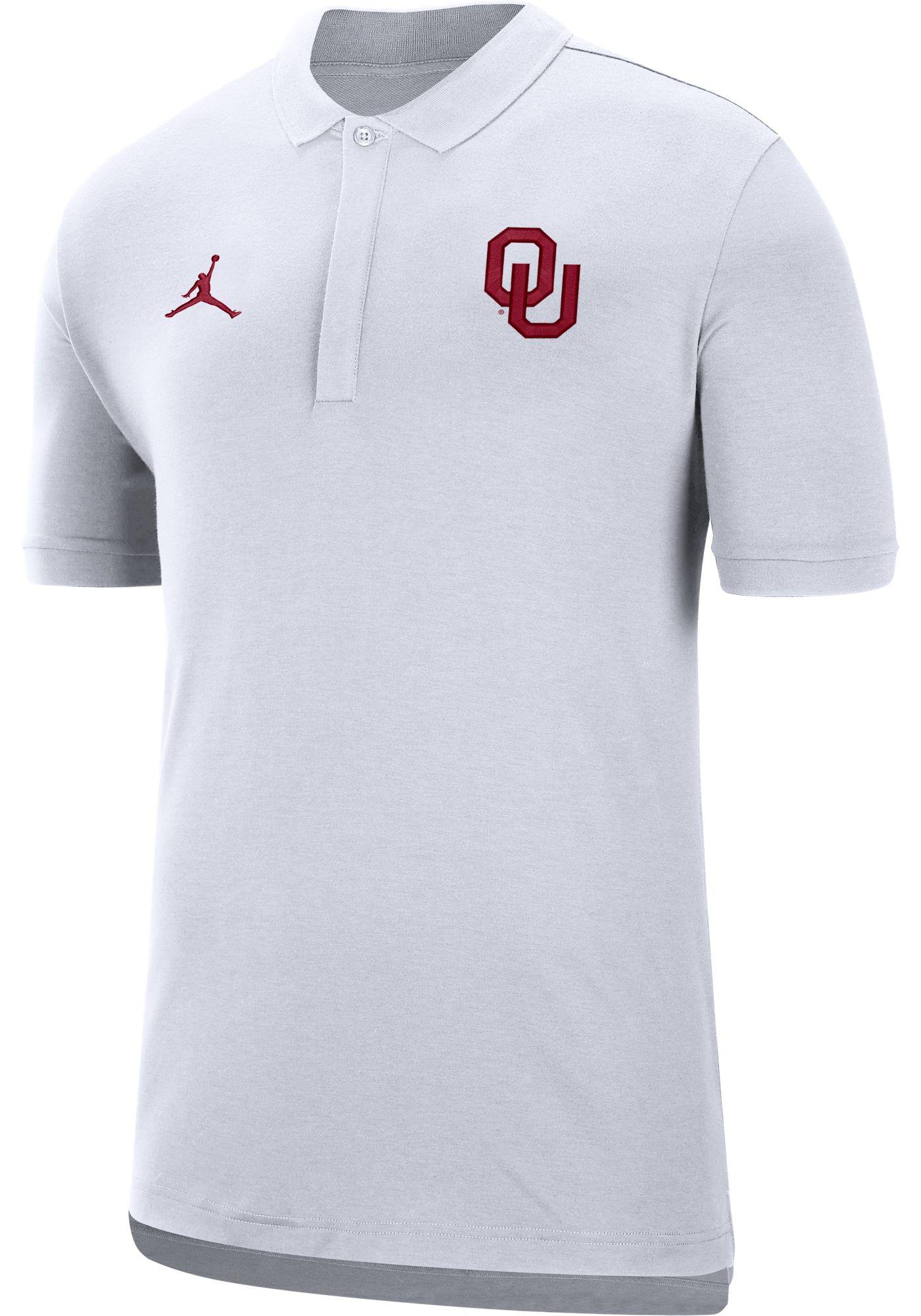 Jordan Men's Oklahoma Sooners Dri-FIT Elite Football Sideline White Polo