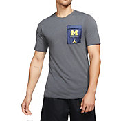 Jordan Men's Michigan Wolverines Grey Jordan 23 Tech Cool Training Top