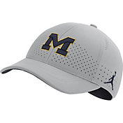 Jordan Men's Michigan Wolverines Grey Legacy91 Adjustable Hat