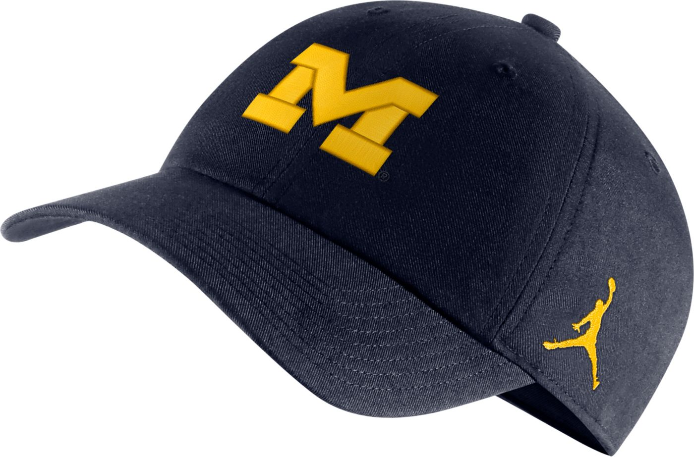 Jordan Men's Michigan Wolverines Blue Heritage86 Logo Hat