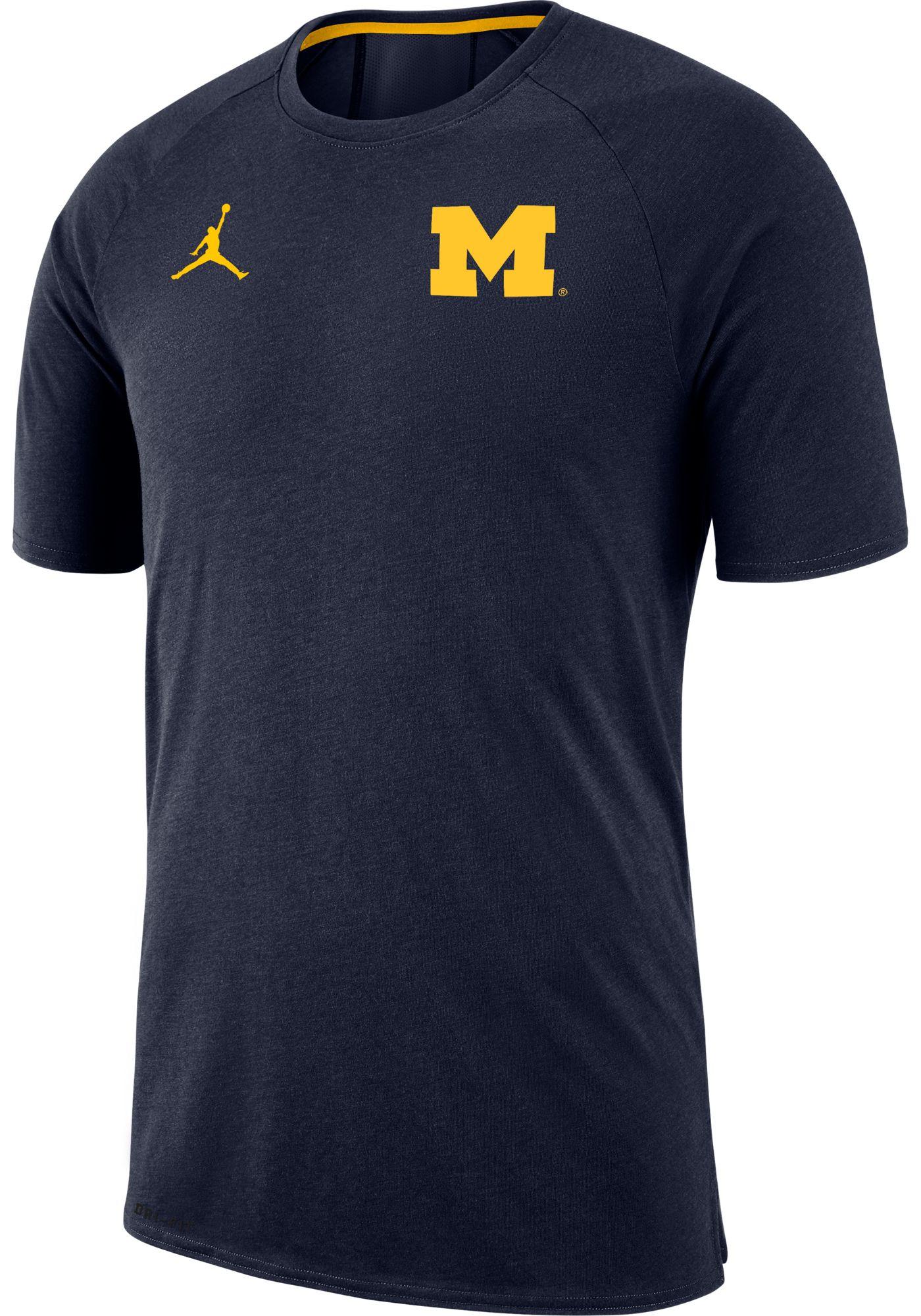 Jordan Men's Michigan Wolverines Blue Dri-FIT 23 Alpha T-Shirt