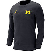 Jordan Men's Michigan Wolverines Blue Dri-FIT Modern Long Sleeve Crew Neck T-Shirt