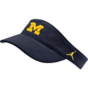 Jordan Men's Michigan Wolverines Blue AeroBill Football Sideline Visor