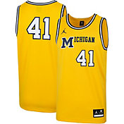 Jordan Men's Michigan Wolverines #41 Maize Retro Replica Basketball Jersey