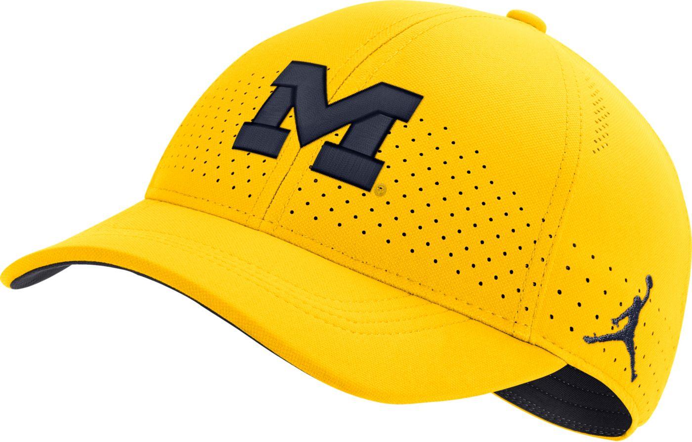 Jordan Men's Michigan Wolverines Maize Legacy91 Adjustable Hat