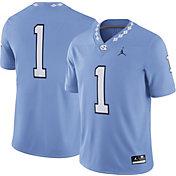 Jordan Men's North Carolina Tar Heels #1 Carolina Blue Game Football Jersey