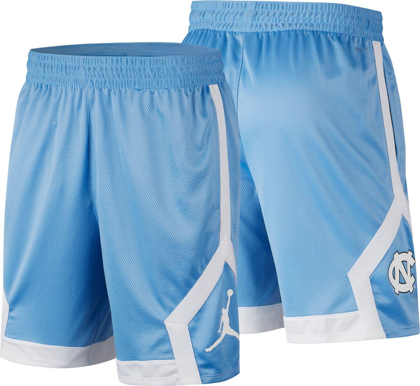 Jordan Men's North Carolina Tar Heels Carolina Blue Knit Shorts