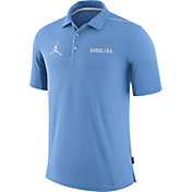 Jordan Men's North Carolina Tar Heels Carolina Blue Team Issue Football Sideline Polo