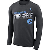 Jordan Men's North Carolina Tar Heels Grey Legend Football Sideline Long Sleeve T-Shirt