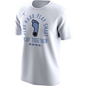 Jordan Men's North Carolina Tar Heels 'Play Hard Play Smart Play Together' Bench Legend White T-Shirt