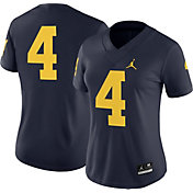 Jordan Women's Michigan Wolverines #4 Blue Game Football Jersey