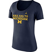 Jordan Women's Michigan Wolverines Blue Mantra T-Shirt
