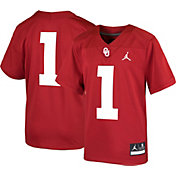 Jordan Youth Oklahoma Sooners #1 Crimson Game Football Jersey