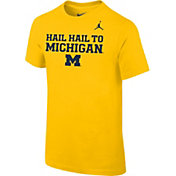 Jordan Youth Michigan Wolverines Maize Mantra T-Shirt
