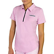 Jofit Women's Short Sleeve Ribbon Pocket Golf Polo