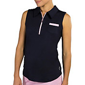 Jofit Women's Sleeveless Pocket Golf Polo