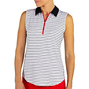 Jofit Women's Zip Sleeveless Golf Polo