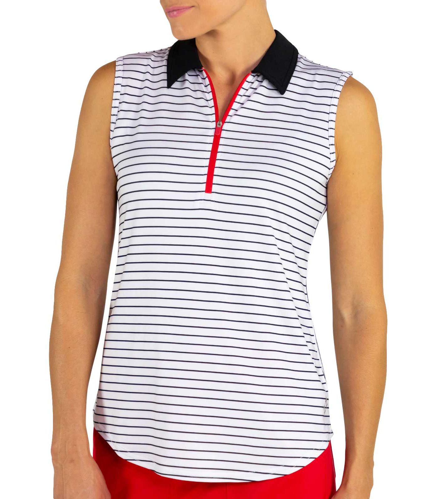 Jofit Women's Zip Sleeveless Golf Polo