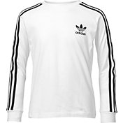 adidas Originals Boys' 3-Stripes Long Sleeve Shirt