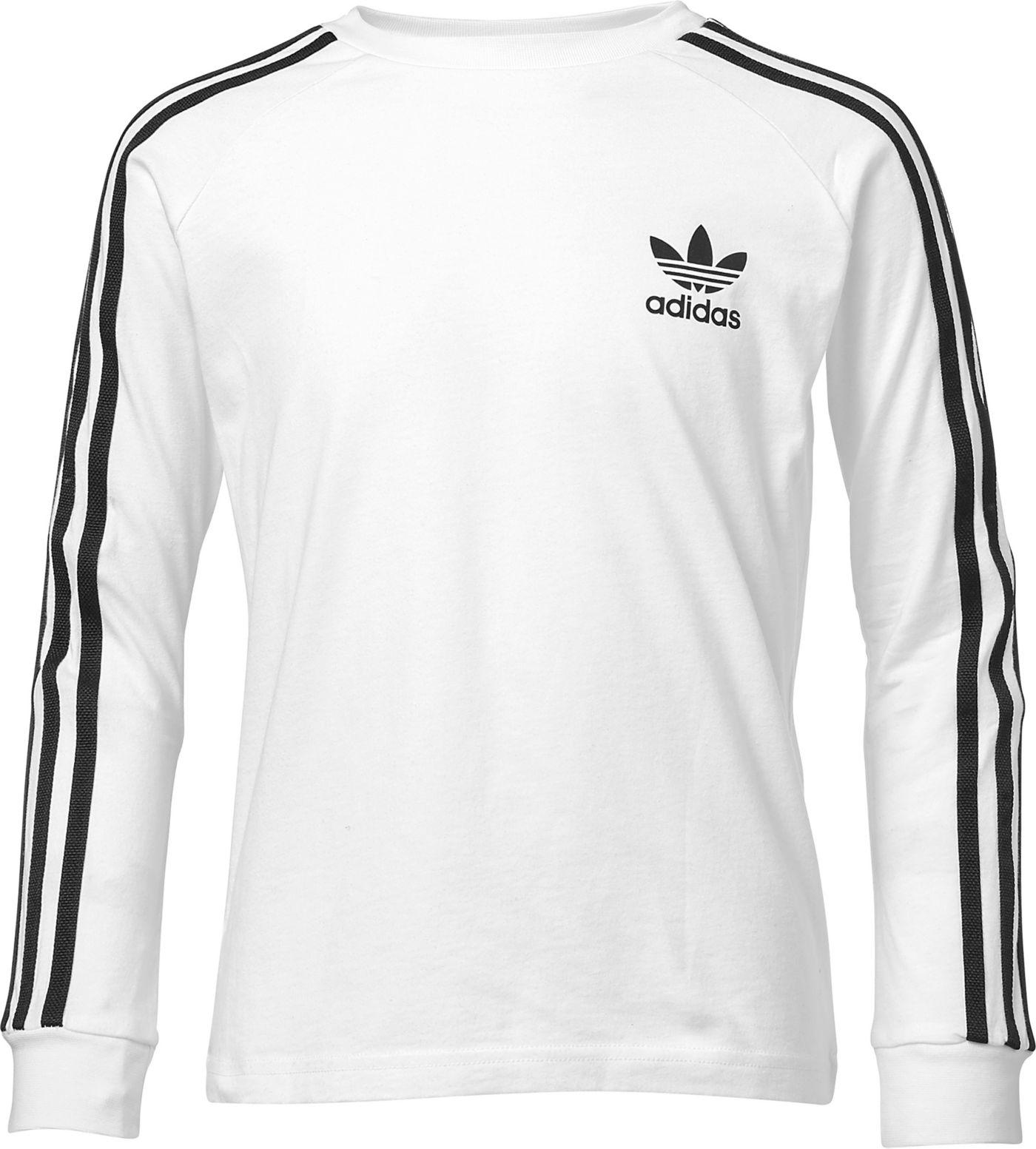 adidas Originals Boys' 3-Stripes Long Sleeve Shirt