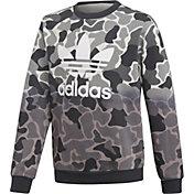 adidas Originals Boys' Camo Trefoil Crew Sweatshirt