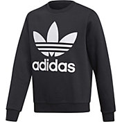 adidas Boys' Trefoil Crew Fleece Pullover