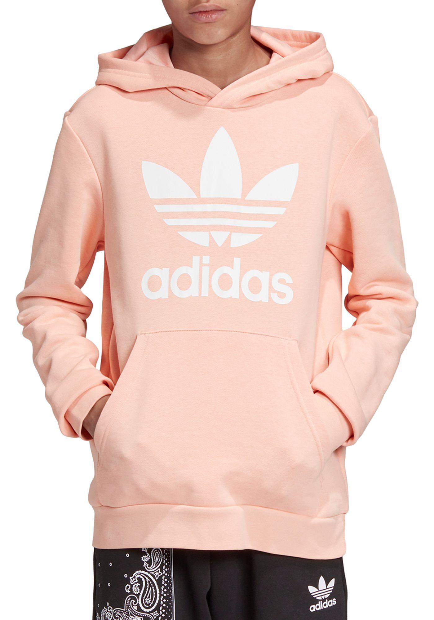 adidas Originals Girls' Trefoil Graphic Hoodie