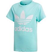 adidas Originals Girls' Trefoil Graphic T-Shirt