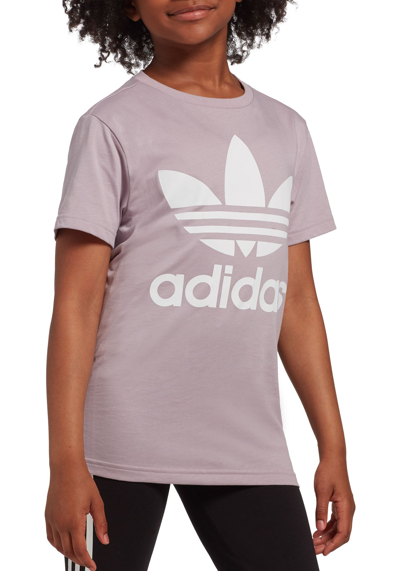 adidas Originals Girls' Trefoil Graphic T-Shirt