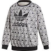 adidas Originals Girls' Zebra Crew Sweatshirt