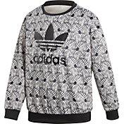 adidas Originals Girls' Zebra Crew Sweatshirt