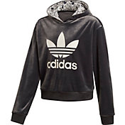 adidas Originals Girls' Zebra Crop Hoodie