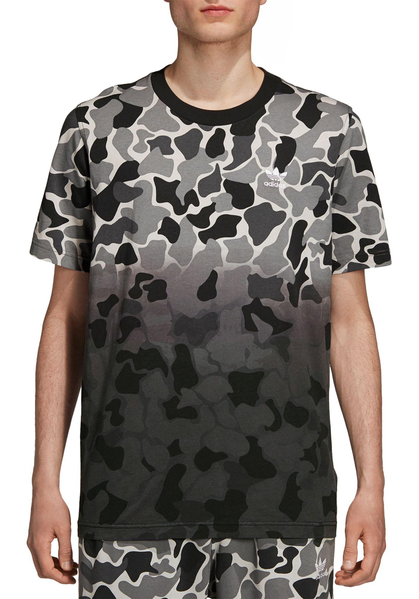 adidas Originals Men's Camo Dipped T-Shirt