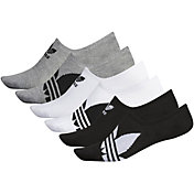 adidas Men's Originals Trefoil Superlite Super No Show Socks 6 Pack