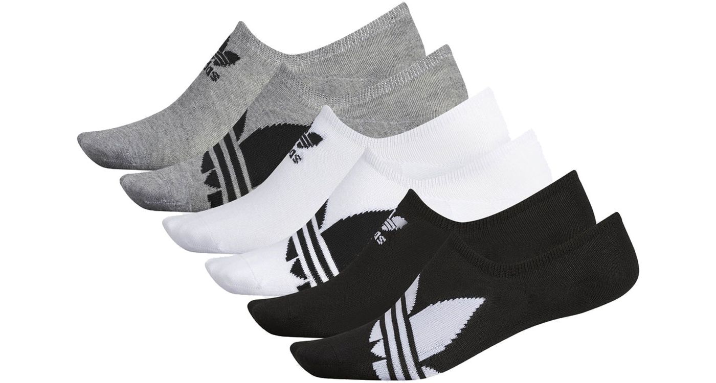 adidas Men's Originals Trefoil Superlite Super No Show Socks 6 Pack