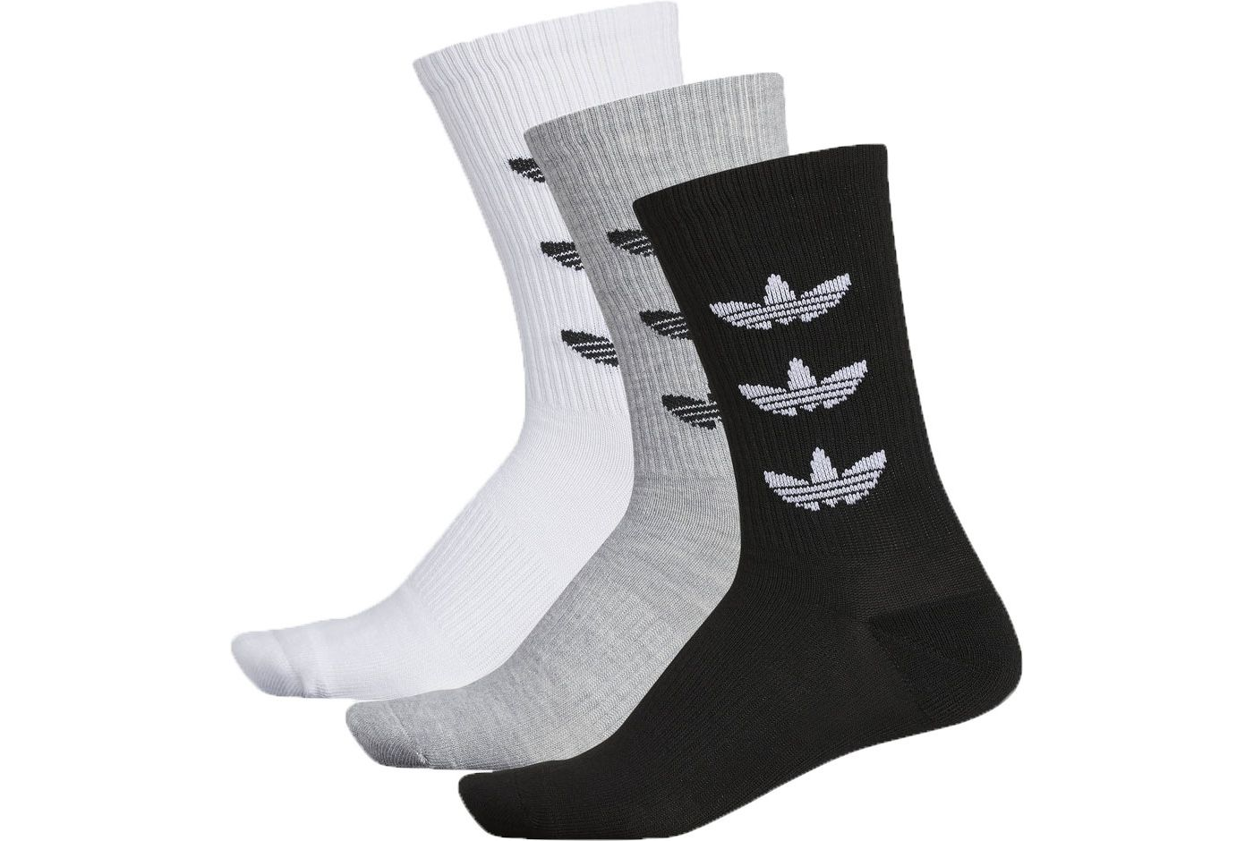 adidas Originals Men's Trefoil Repeat Crew Socks - 3 Pack