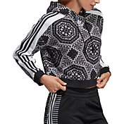 adidas Originals Women's Printed Cropped Hoodie