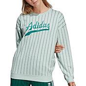 adidas Originals Women's Striped Crewneck Sweatshirt