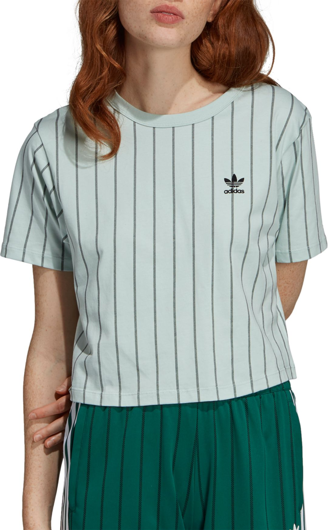 4cc6677efb adidas Originals Women's Striped Out Crop T-Shirt | DICK'S Sporting ...