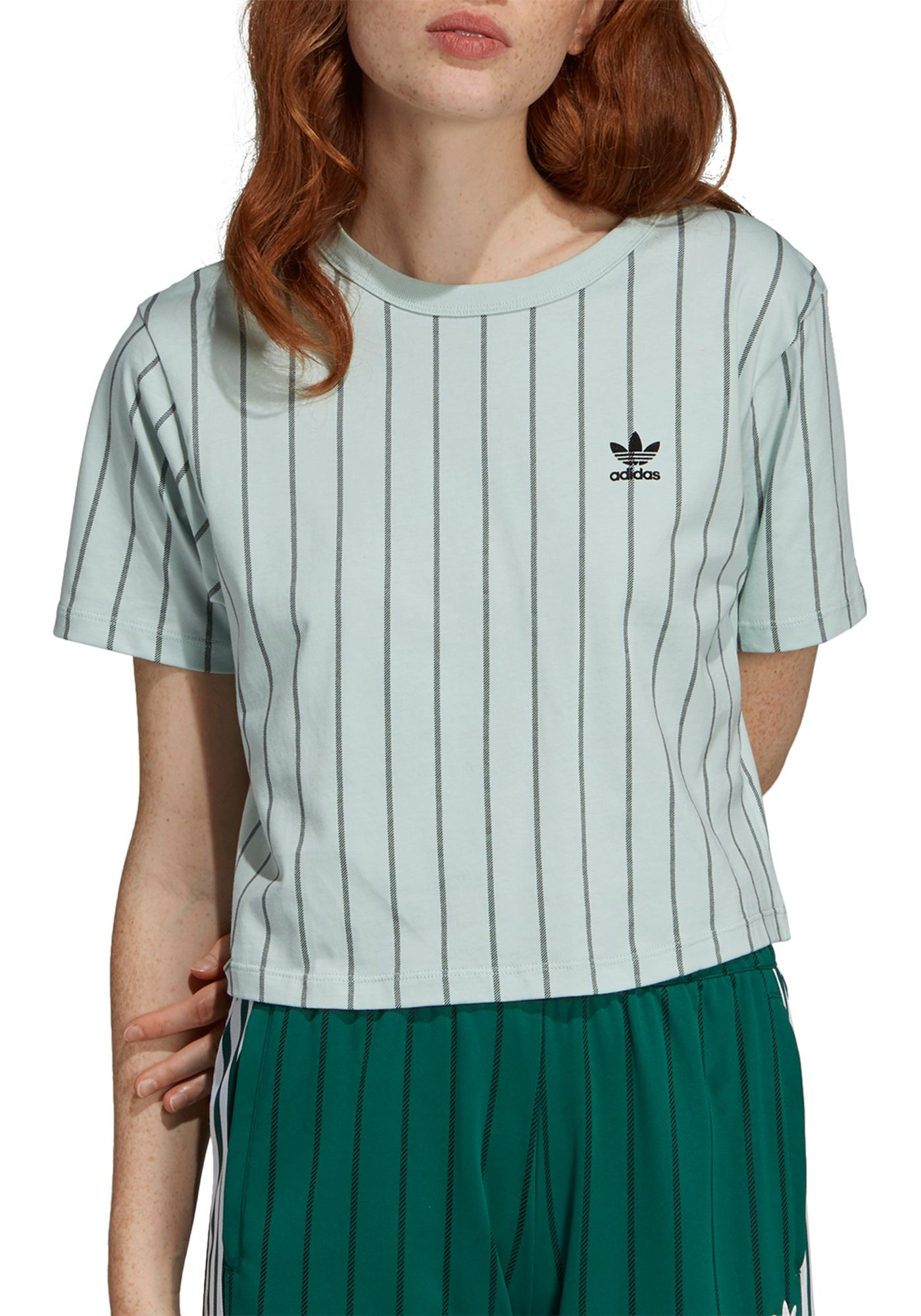 adidas Originals Women's Striped Out Crop T-Shirt