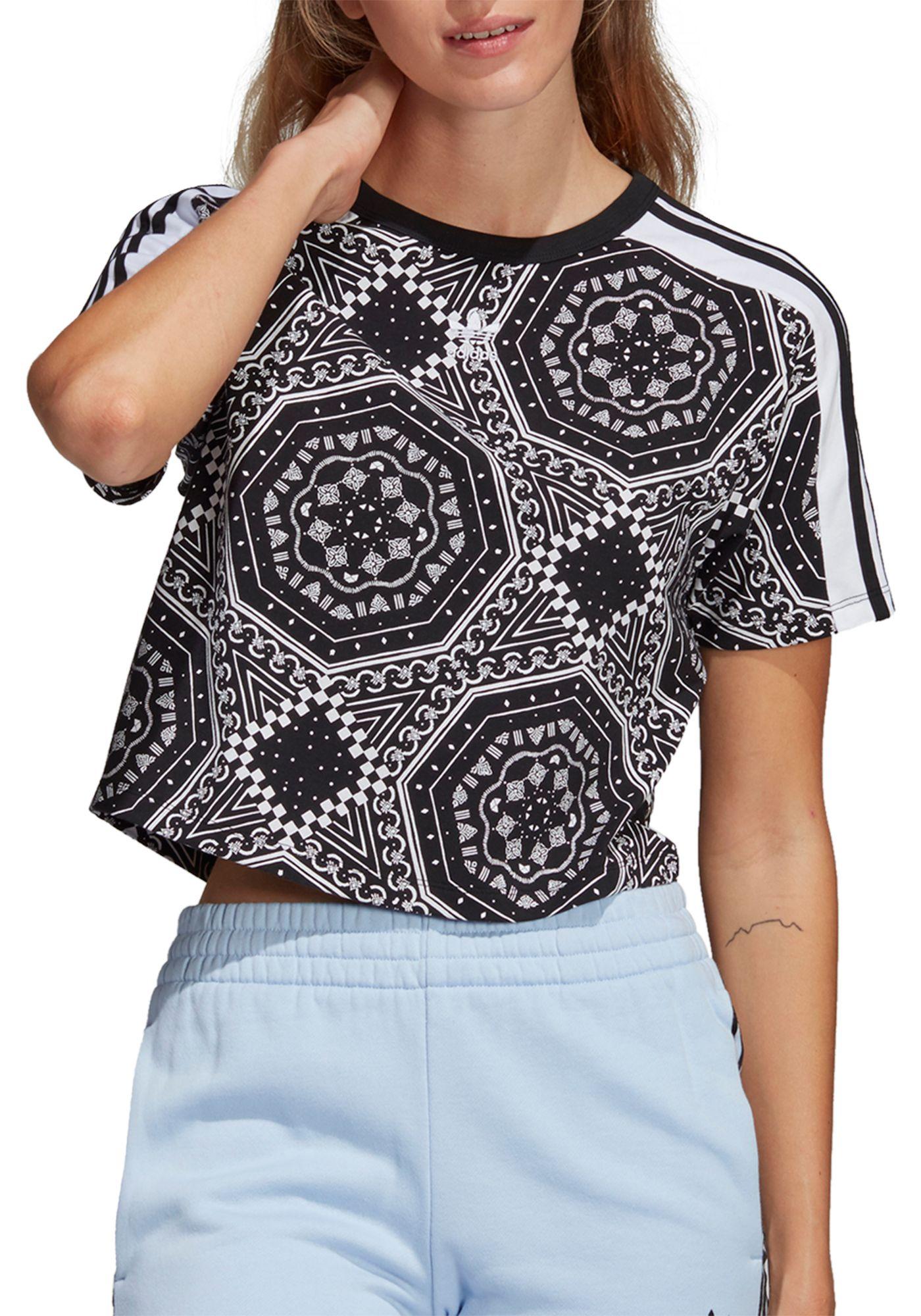 adidas Originals Women's Printed Cropped T-Shirt