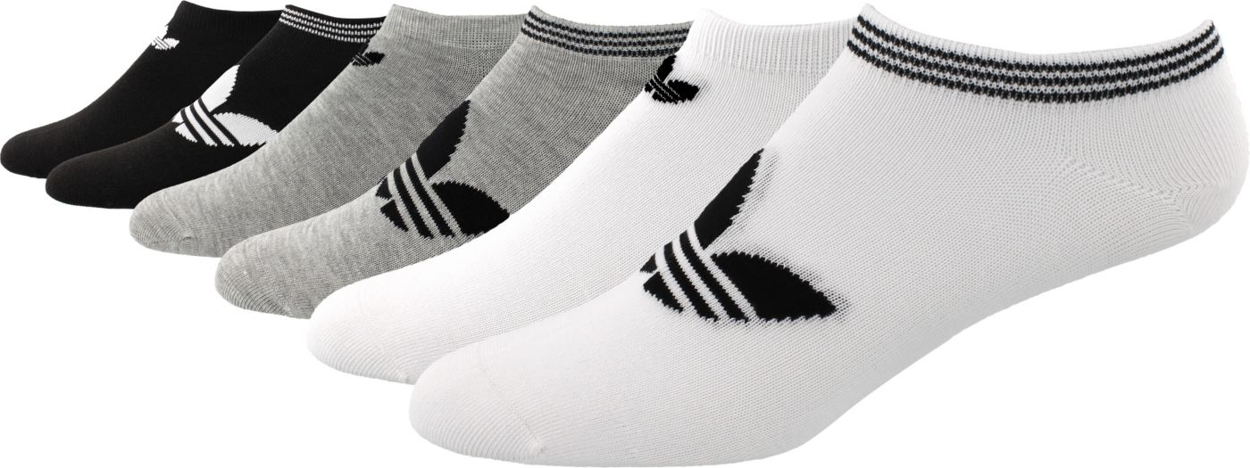 adidas Originals Women's Trefoil No Show Socks 6 Pack
