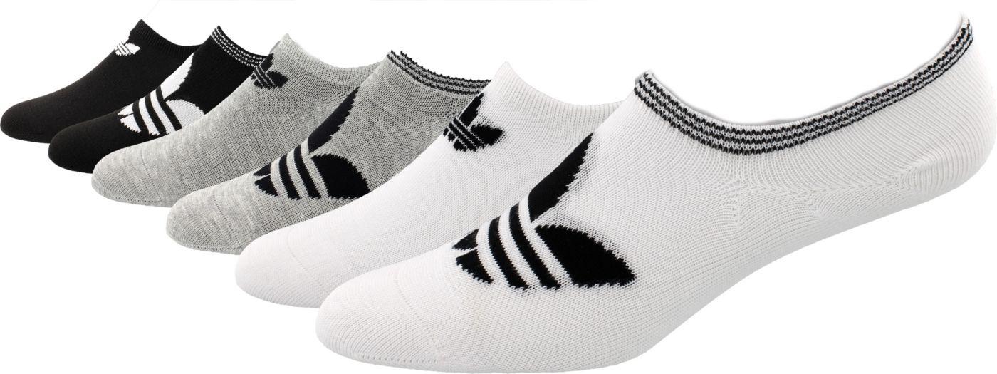 adidas Originals Women's Trefoil Super No Show Socks 6 Pack