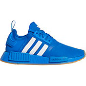 adidas Kids' Grade School NMD_R1 Shoes in Royal/White