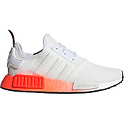 adidas Kids' Grade School NMD_R1 Shoes in White/Red